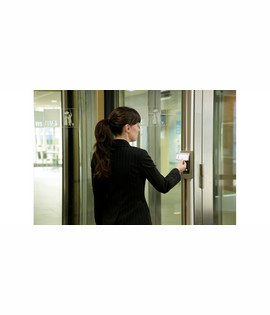 Automatic revolving door with access control