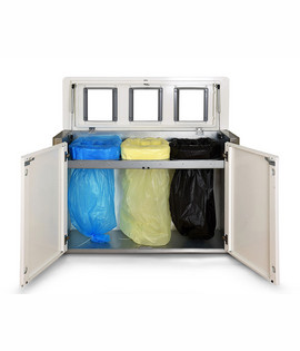 Triple cabinet for separate waste collection Longopac