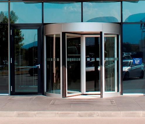 Автоматична въртяща врата с диаметър от 1,80м до 3,60м