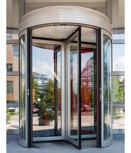 Automatic revolving door with diameter 3,60m to 5,40m