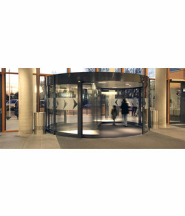 Automatic revolving door with diameter 4,20m to 6,20m
