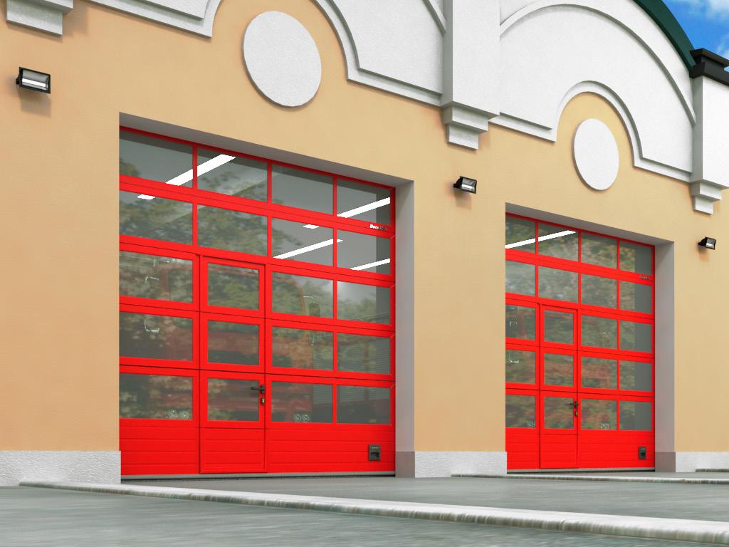 Full-view panoramic garage doors