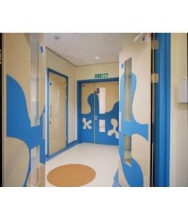 Special designed antibacterial interior applications